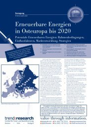 Erneuerbare Energien in Osteuropa bis 2020 - trend:research