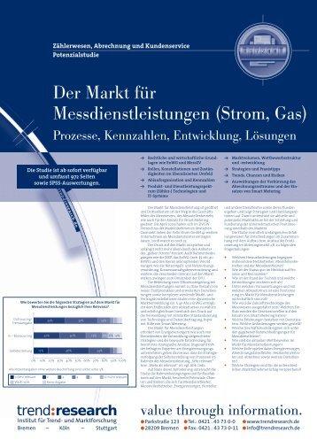 Der Markt für Messdienstleistungen (Strom, Gas) - trend:research