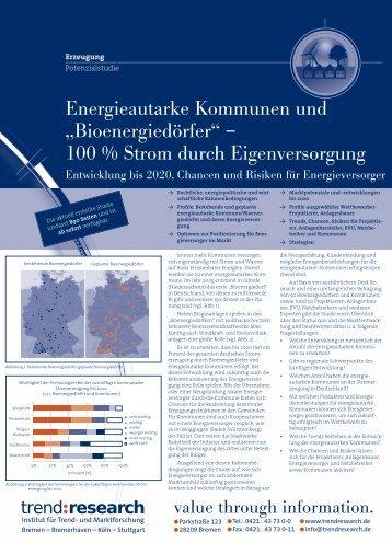 """Energieautarke Kommunen und """"Bioenergiedörfer ... - trend:research"""