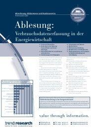 Ablesung: Verbrauchsdatenerfassung in der ... - trend:research