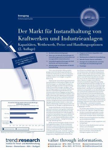 Der Markt für Instandhaltung von Kraftwerken und ... - trend:research