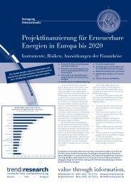 Projektfinanzierung für Erneuerbare Energien in ... - trend:research