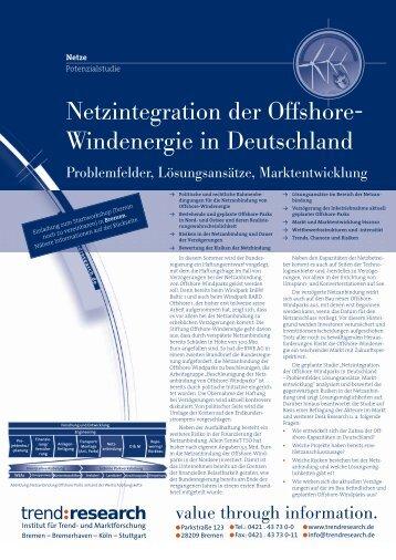 Netzintegration der Offshore- Windenergie in ... - trend:research
