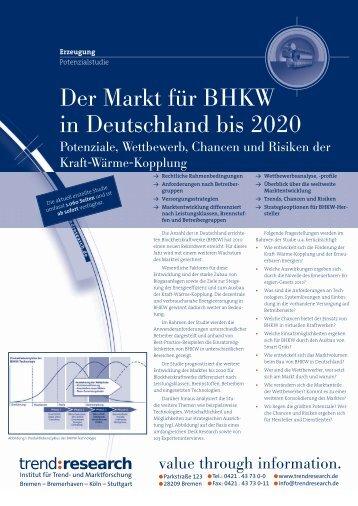 Der Markt für BHKW in Deutschland bis 2020 - trend:research