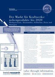 Der Markt für Kraftwerks- nebenprodukte bis 2020 - trend:research