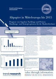 Altpapier in Mitteleuropa bis 2015 - trend:research
