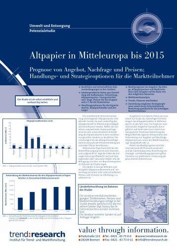 Altpapier in Mitteleuropa bis 2015 - trend:research