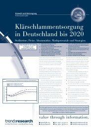 Klärschlammentsorgung in Deutschland bis 2020 - trend:research