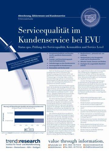 Servicequalität im Kundenservice bei EVU - trend:research