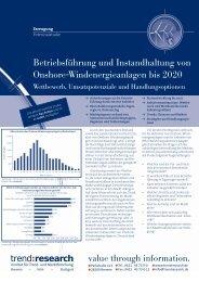 Betriebsführung und Instandhaltung von Onshore ... - trend:research