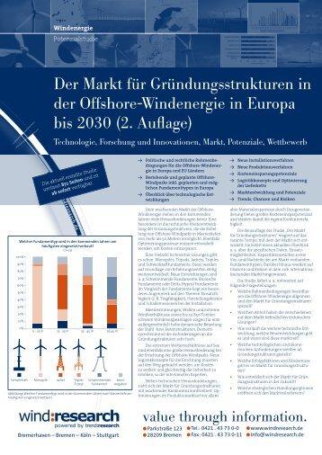 Der Markt für Gründungsstrukturen in der Offshore ... - trend:research
