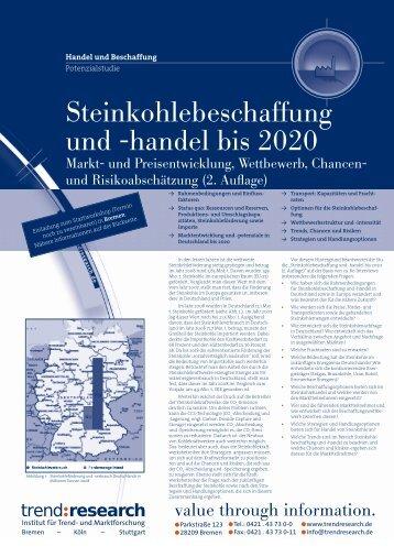Steinkohlebeschaffung und -handel bis 2020 (2 ... - trend:research