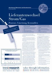 Lieferantenwechsel Strom/Gas - trend:research