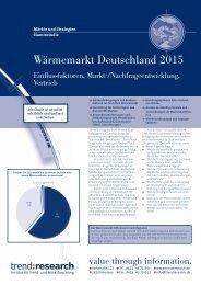 Wärmemarkt Deutschland 2015 - trend:research