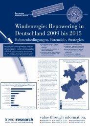 Repowering in Deutschland 2009 bis 2015 - trend:research