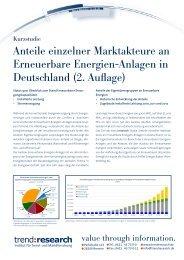Anteile einzelner Marktakteure an Erneuerbare ... - trend:research