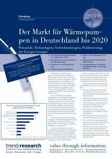 Der Markt für Wärmepumpen in Deutschland bis 2020 - trend:research