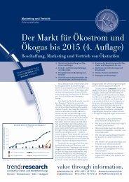 Der Markt für Ökostrom und Ökogas bis 2015 (4 ... - trend:research