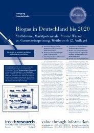 Biogas in Deutschland bis 2020 (2. Auflage) - trend:research