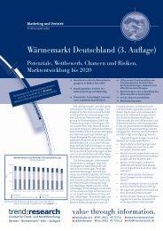 Wärmemarkt Deutschland (3. Auflage) - trend:research