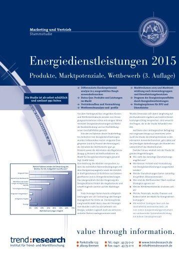 Energiedienstleistungen 2015 - trend:research