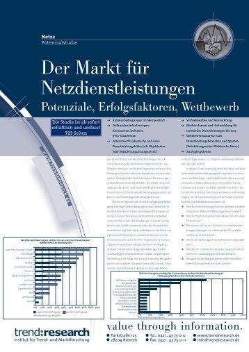 Der Markt für Netzdienstleistungen - trend:research
