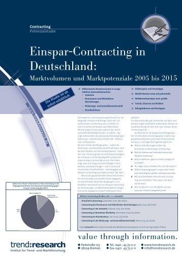Einspar-Contracting in Deutschland: - trend:research