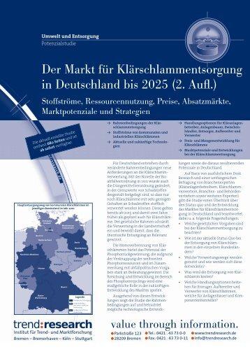 Der Markt für Klärschlammentsorgung in ... - trend:research