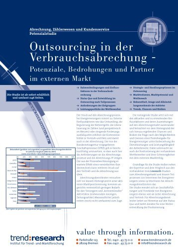 Outsourcing in der Verbrauchsabrechung - - trend:research