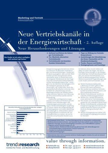 Neue Vertriebskanäle in der Energiewirtschaft - 2 ... - trend:research