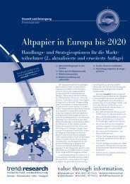 Altpapier in Europa bis 2020 - trend:research