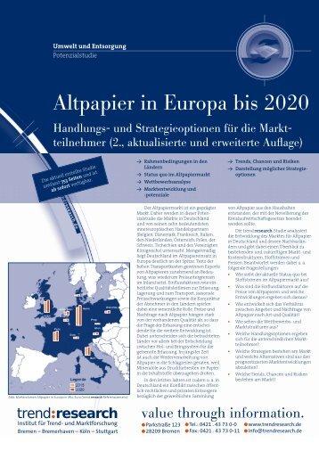 Altpapier in Europa bis 2020 - trend:research