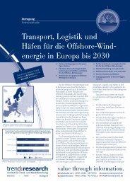 Transport, Logistik und Häfen für die Offshore-Wind ... - trend:research