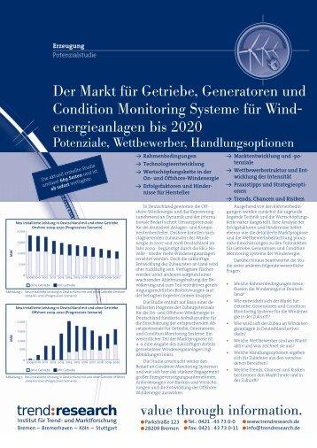 Der Markt für Getriebe, Generatoren und Condition ... - trend:research