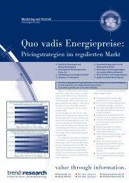 Quo vadis Energiepreise: - trend:research