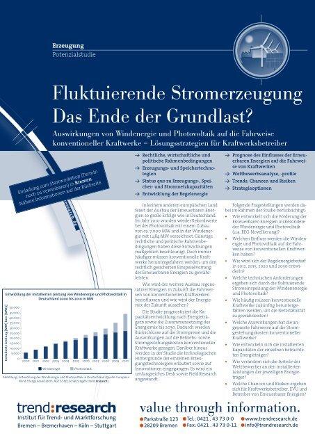 Fluktuierende Stromerzeugung Das Ende der ... - trend:research