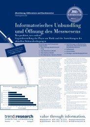 Informatorisches Unbundling und Öffnung des ... - trend:research