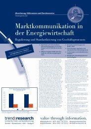 Marktkommunikation in der Energiewirtschaft - trend:research
