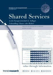 Shared Services in der Energiewirtschaft - trend:research