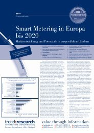 Smart Metering in Europa bis 2020 - trend:research