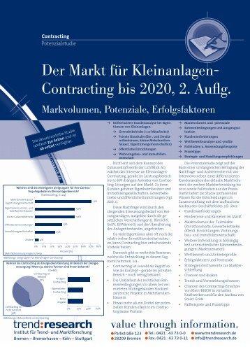 Der Markt für Kleinanlagen- Contracting bis 2020, 2 ... - trend:research