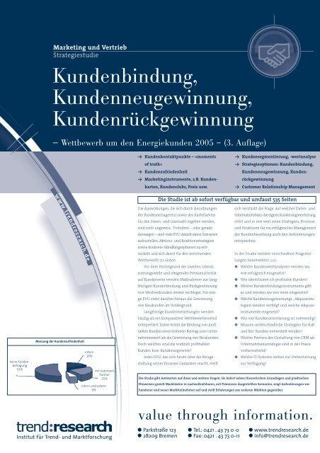 Kundenbindung, Kundenneugewinnung ... - trend:research
