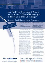 Der Markt für Operation & Maintenance in der ... - trend:research