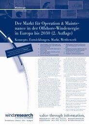 Der Markt für Operation & Maintenance in der ... - trend:research