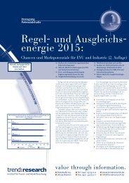 Regel- und Ausgleichs- energie 2015: - trend:research