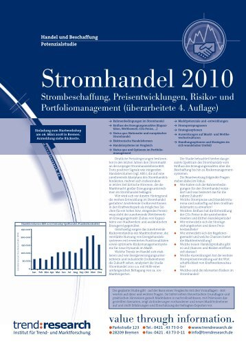 Stromhandel 2010 - trend:research