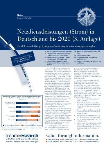 Netzdienstleistungen (Strom) in Deutschland bis 2020 - trend:research