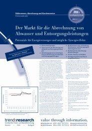 Der Markt für die Abrechnung von Abwasser und ... - trend:research