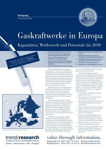 Gaskraftwerke in Europa - trend:research
