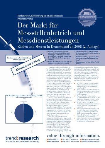 Der Markt für Messstellenbetrieb und ... - trend:research